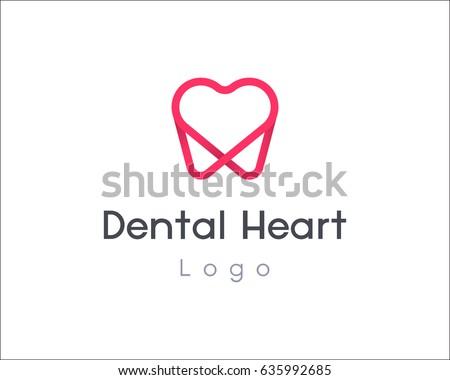 Dentist logo design template tooth creative stock vector royalty dentist logo design template tooth creative symbol dental clinic vector sign heart mark icon maxwellsz