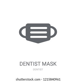 Dentist mask icon. Trendy Dentist mask logo concept on white background from Dentist collection. Suitable for use on web apps, mobile apps and print media.