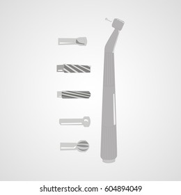 Dentist surgery drilling machine vector
