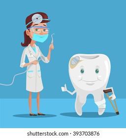 Happy Dental Patient Clipart