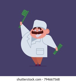 Dentist Vector illustration of a flat design. isolated character