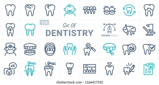 Dentistry Vector Icon Set B01