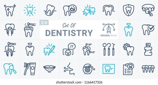 Dentistry Vector Icon Set B02