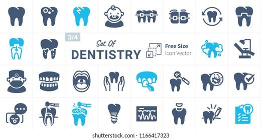 Dentistry Vector Icon Set B03