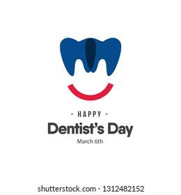Dentist's Day Logo Vector Template Design Illustration
