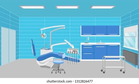 Dentist's office scenery interior