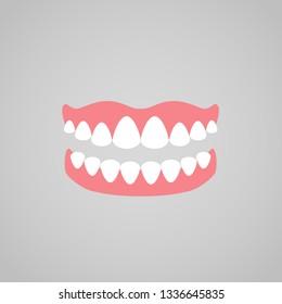 Dentures vector icon.