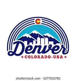 Denver Colorado logo. Vector and illustration.