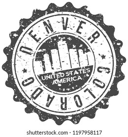 Denver Colorado Travel Stamp Icon City Design Tourism Export Seal