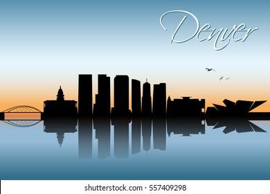 Denver skyline, Colorado - vector illustration