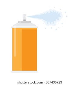 deodorant spray aerosol air freshener, vector illustration flat design isolated on white background