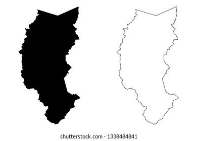 Department of Puno (Republic of Peru, Regions of Peru) map vector illustration, scribble sketch Puno map