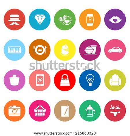 Department Store Item Category Flat Icons On White Background Stock Vector