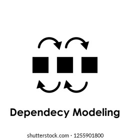 dependency modeling icon. One of business collection icons for websites, web design, mobile app