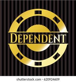 Dependent gold badge