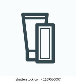 Depilation products icon. Strips for depilation vector icon