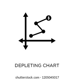 Depleting chart icon. Depleting chart symbol design from Analytics collection. Simple element vector illustration on white background.