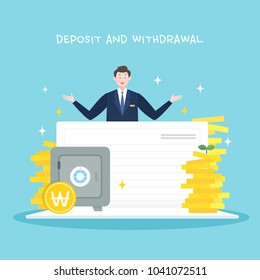 Deposit and withdrawal illustration