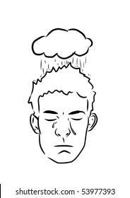Depressed Crying Boy Mental Illness