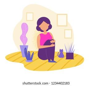 Suicide cartoons images stock photos vectors shutterstock - Cartoon girl sitting alone ...