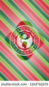 depression icon inside christmas emblem.