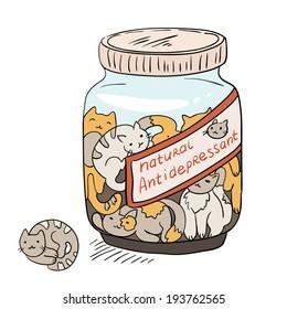 A depression medicine - cats (vector)