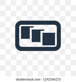 Depth perception vector icon isolated on transparent background, Depth perception transparency concept can be used web and mobile