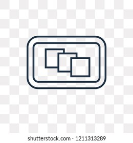 Depth perception vector outline icon isolated on transparent background, high quality linear Depth perception transparency concept can be used web and mobile