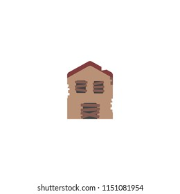 Derelict House Vector Icon