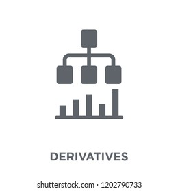 Derivatives icon. Derivatives design concept from Derivatives collection. Simple element vector illustration on white background.