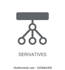 Derivatives icon. Trendy Derivatives logo concept on white background from business collection. Suitable for use on web apps, mobile apps and print media.