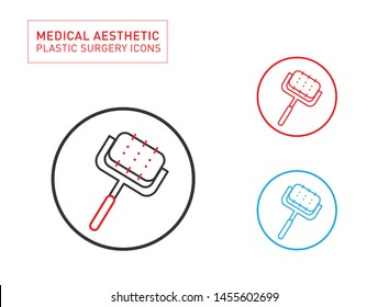Derma roller Medical Aesthetic Line icon