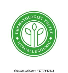 Dermatologist tested logo design template illustration