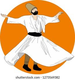dervish, sufi, Semazen, Dervis, sufism, sufi dance, sufi whirling, ramadan, ramadan kareem, ramazan
