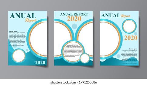 Desain Anual Report. Good for template desain.