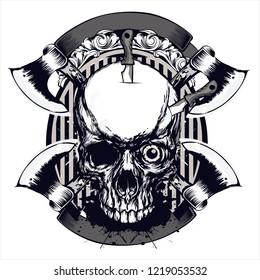 desain skull horor tshirt