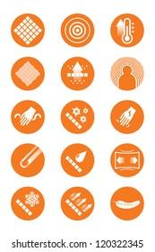 Description icons of clothes (orange)