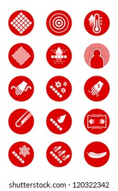 Description icons of clothes (red)