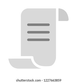 Description vector icon, document symbol. Simple, flat design for web or mobile app