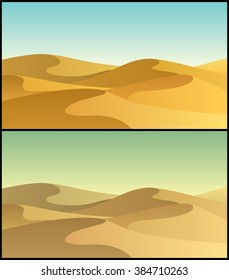 Desert 3: Desert landscape in 2 color versions.
