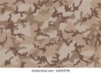 Desert camouflage seamless pattern. Brown and tan colors.