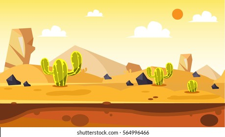 desert cartoon vector