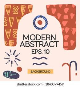 Desert Ethnic Minimalism Instagram Template Vector Modern Art Graphic Design for Gift Cards Flyers Brochures etc.