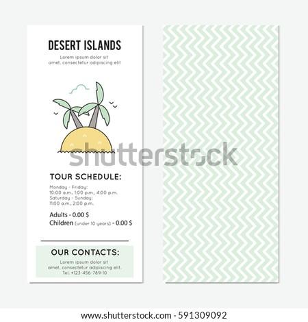 desert island vector vertical banner template stock vector royalty