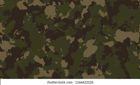 Desert сamouflage khaki pattern background seamless vector illustration. Military army design style camo texture for cover, textile print, fabric, swimwear cloth or decoration.