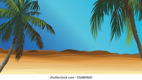 desert with palm