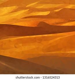 Desert polygon background