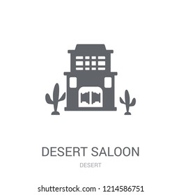 Desert saloon icon. Trendy Desert saloon logo concept on white background from Desert collection. Suitable for use on web apps, mobile apps and print media.