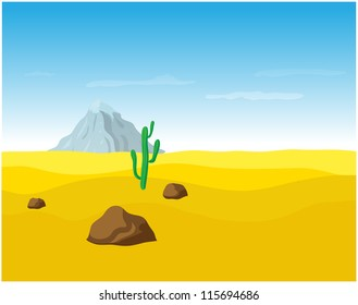 desert sand landscape, vector illustration