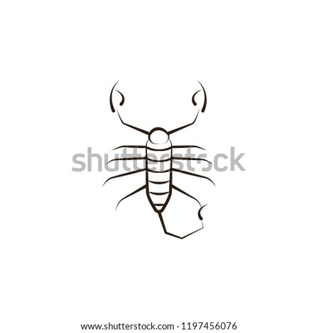 Desert Scorpion Icon Element Desert Icon Stock Vector Royalty Free